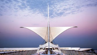 The Santiago Calatrava-designed addition to the Milwaukee Art Museum is among attractions Visit Milwaukee cites in promoting the city.