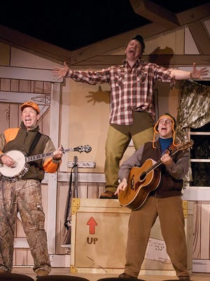"""Fred """"Doc"""" Heide, Doug Mancheski and Lee Becker reprise their roles in """"Guys and Does,"""" opening Friday at Door Community Auditorium."""