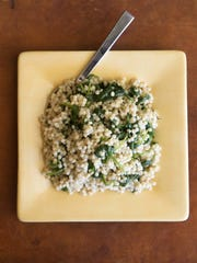 Pearl Couscous with Spinach and Herbs at Robin Miller's