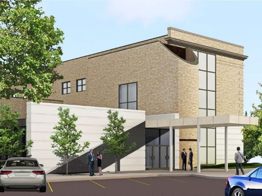 This rendering shows the proposed look of a boutique hotel in downtown Grinnell. The hotel is part of the city's preliminary plans to apply for the second Reinvestment District round.