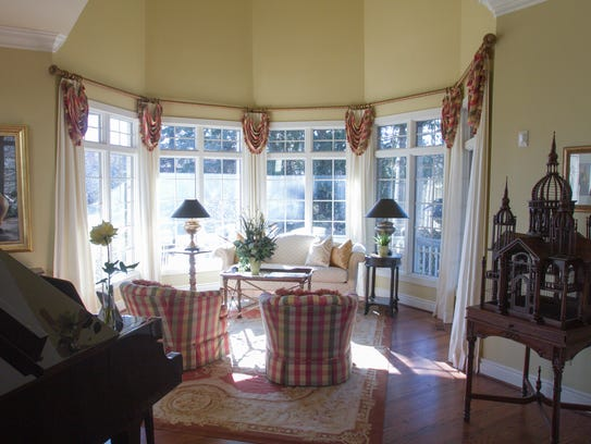 The formal living room of Judy and Mike Britt's home,