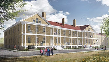 Proposed Fort Snelling visitors center