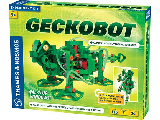 Help your child build this robotic gecko, and then