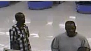 Police are looking for these two men in connection with recent scams at local stores.