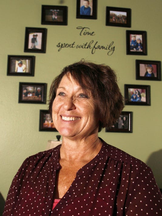 Sheridy Walker poses for a portrait Thursday at her home in Farmington.