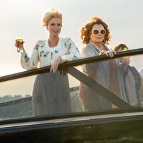 """Saffy (Julia Sawalha, left) and Patsy (Joanna Lumley) still can't get along in """"Absolutely Fabulous: The Movie."""" Fans are delighted by that news."""