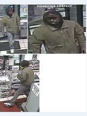 York City Police have released these enhanced photos of the suspect in the homicide at the Exxon Gas Station Oct. 17.