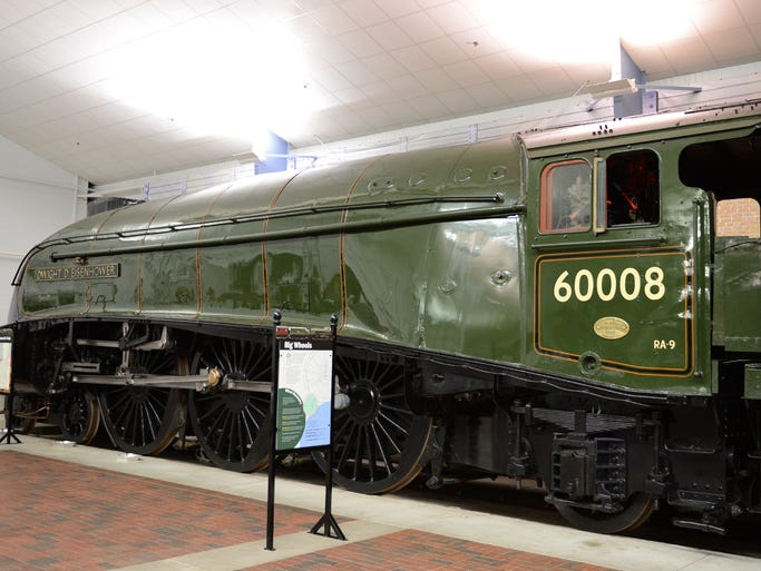 The restored Dwight D. Eisenhower locomotive exhibit, photographed Friday, August 1, 2014, opens to the public Saturday, August 2, at the National Railroad Museum in Ashwaubenon.
