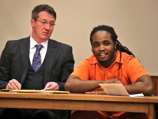 Lydell Strickland smiles after he was sentenced to