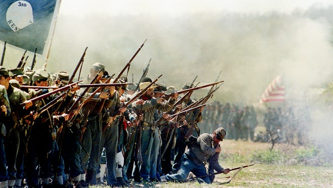 A re-enactment of the Battle of Shiloh was held in Shiloh, Tenn., in 1987 on the 125th anniversary of the Civil War battle.