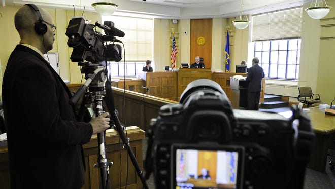 The ruling specifically prohibits cases involving charges of criminal sexual conduct and family or domestic violence. Testimony from victims or someone testifying on behalf of a victim, hearings without the presiding judge present and cases in a treatment court also are protected. The jury cannot be filmed or photographed.