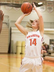 Brighton's Emily Dunn scored seven points during a