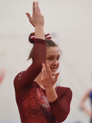 McCutcheon's Megan Walker will compete in the vault at Saturday's state meet.