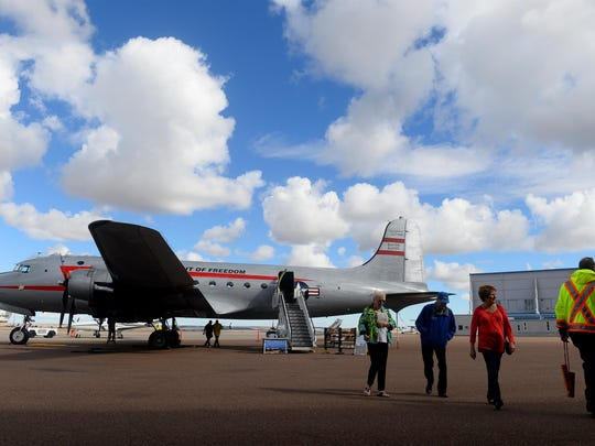 The last remaining plane, a C-54, flown during the Berlin Airlift in WWII is now a flying museum and has made a stop at in Great Falls. The plane is parked at Holman Aviation and will be open to the public this weekend.