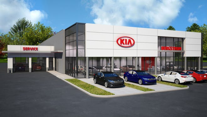 The new Kia showroom will be built at the corner of College Avenue and Lynndale Drive in Grand Chute.