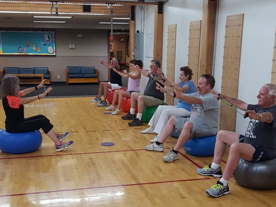 Resistance bands are one tool used in the Senior Group