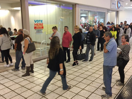 The last day of early voting drew a steady line at