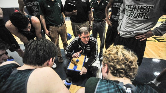 Scott Willard coached his first Christ School basketball