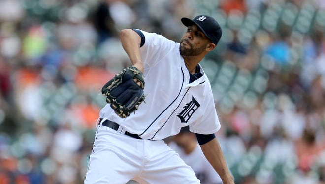 The Detroit Tigers' David Price pitches against the Seattle Mariners on July 23, 2015, at Comerica Park in Detroit.