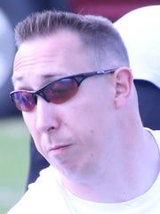 West Creek boys track coach Josh Stoeckl