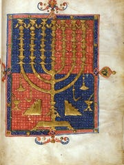 This depictio nof a menorah is from the Duke of Sussex's