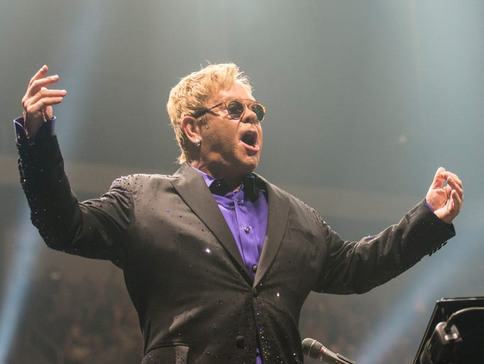 Elton John performs at the Giant Center in Hershey