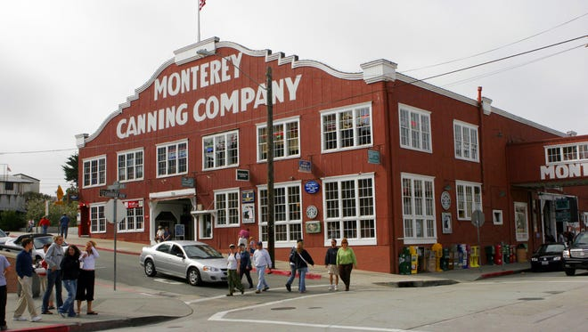 Some buildings along Cannery Row have been painted to reflect their original uses.