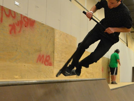 Kids can try some tricks on the ramps and ramps of Battleground, which is now open in Lakeview Square Mall.