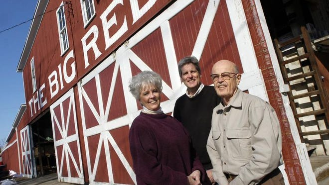 From left, Christi Dutcher and Mike and Bob Fulton, owners of the 100-year-old Fulton Lumber Company, pictured recently. Company founder Bob Fulton died Aug. 15 at the age of 92.
