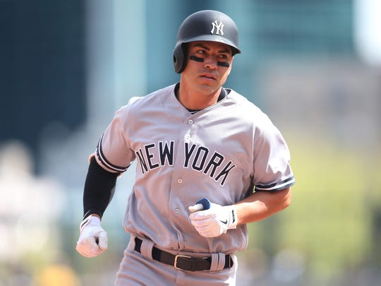 Center fielder Jacoby Ellsbury aims to return from injury to the Yankees on Sundayt, Masy 7, 2017.