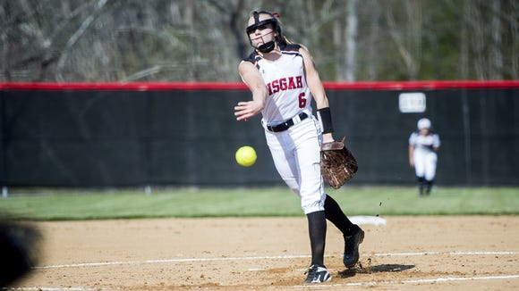 Pisgah's Madison Whitted pitches during Tuesday's 8-2 home win over Tuscola.