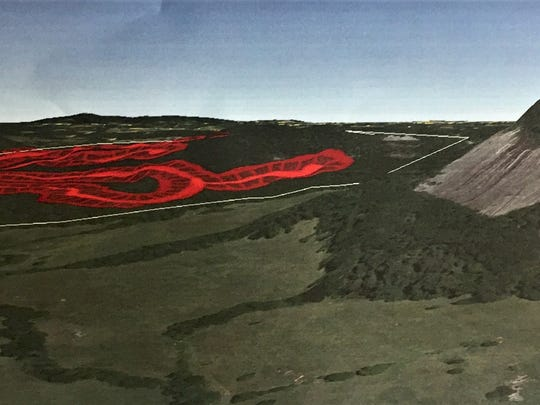 This rendering shows the relation between the proposed 247-home development and Glassy Mountain, four miles northeast of Pickens. Engineer Timothy Granger, who gave this to the county's planning commission, said the development would set a troubling precedent for the area.