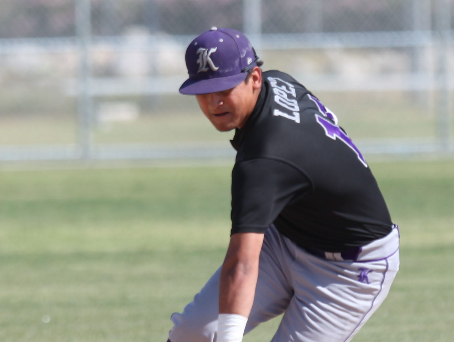 Alex Lopez, playing shortstop for Shadow Hills High School makes a play against Desert Hot Springs High School at Desert Hot Springs. Shadow Hills won the game.