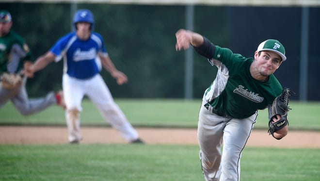 Isaac Wengert pitched Fredericksburg to a 3-1 win over Campbelltown in Game 1 of the Lefty Grumbine Championship Series on Monday night.