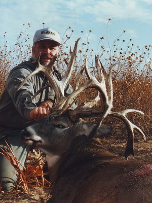 Mike Okray's Colorado state record non-typical whitetail.