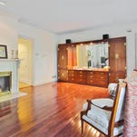 The family room at 65 Ridge Road in Rumson.