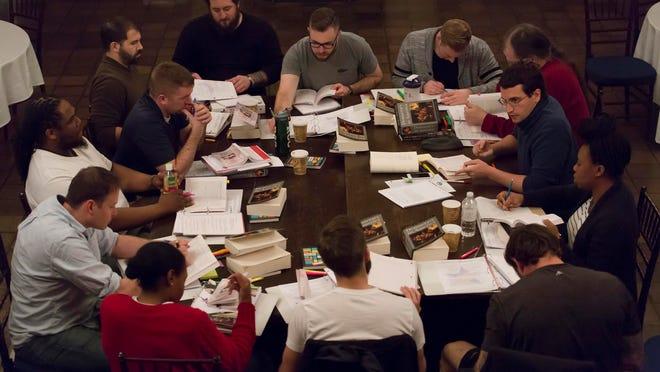 "Veterans discuss Toqueville's ""Democracy in America"" and ""ninja reading"" skills at WSP's Vassar College boot camp."