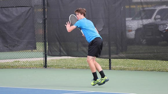 Joseph Schrader is the No. 1 singles player for the Brevard tennis team.
