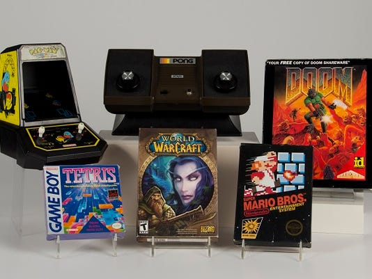 In this May 17, 2015 photo provided by the Strong Museum, shows video games to be inducted into the World Video Game Hall of Fame on Thursday, June 4, 2015, at the Strong museum in Rochester, N.Y.