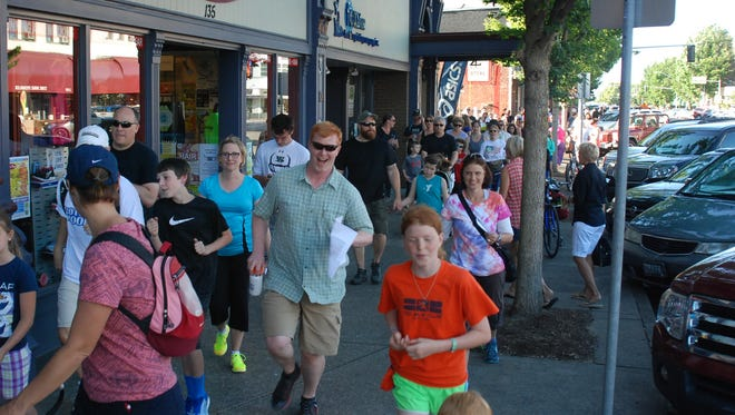 On Your Feet Friday is a community walk/run event that encourages people to explore downtown Salem.