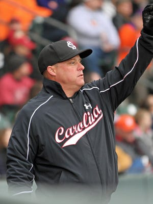 South Carolina coach Chad Holbrook led the Gamecocks to a 10-4 win over Charleston Southern.