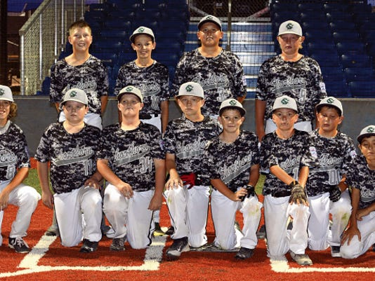 Matt Hollinshead — Current-Argus Shorthorn Gray won the 12-year-old District All Star tournament championship, beating American Red 14-4 Sunday at Bob Forrest Youth Sports Complex.