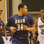 RJ White and Kyle Cain during the UNCG victory over Wofford