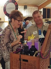 """An interested party-goer checks out the """"Booze Wagon"""""""