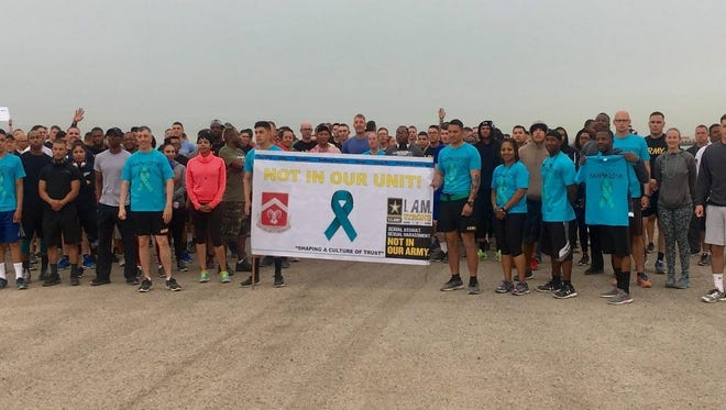 The battalion, currently in Kuwait, hosted several events in support of Sexual Assault Awareness Prevention Month.