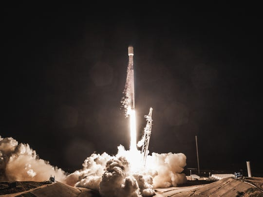 On its most recent mission on March 6, 2018, SpaceX launches the Hispasat 30W-6 commercial communications satellite from Cape Canaveral Air Force Station on a Falcon 9 rocket.