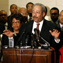 In this 2009 photo, Rep. Chaka Fattah, D-Pa., speaks at a Congressional Black Caucus event.