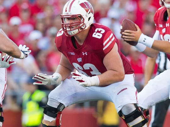 Genoa graduate Michael Deiter was a third-round draft pick for the Miami Dolphins after four years at Wisconsin.