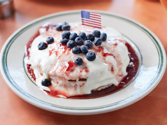 The red, white and blue special at Original Breakfast
