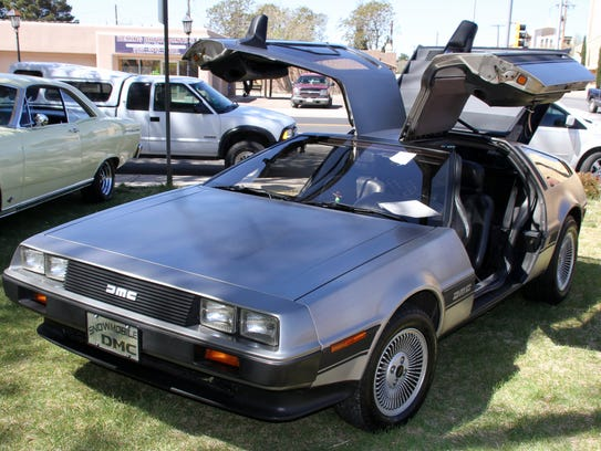 The DeLorean brought back memories of Marty McFly and